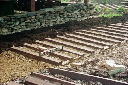 Front garden path in progress early May 03