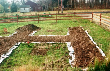 Front garden path layout early May 03
