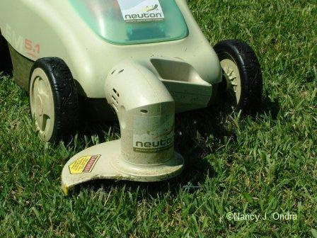 Neuton mower trimmer setting