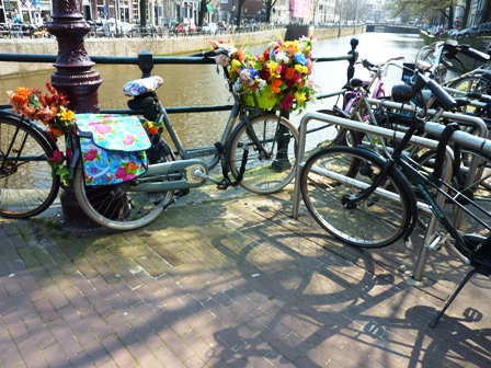 Flower market in Amsterdam-floral bike-2nd one-resized