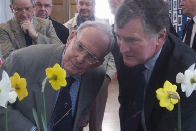 "The judges inspecting Narcissi at the Royal Horticultural Society show, London. Pic"" Jo Whitworth"