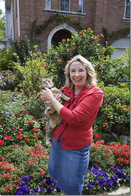 Susan Blevins of Houston in her garden.