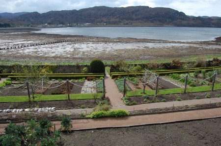 Looking south over the walled garden over loch Ewe.