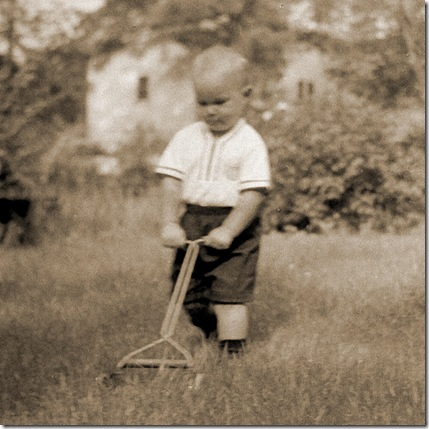 Lawnboy - Saxon Holt as young child