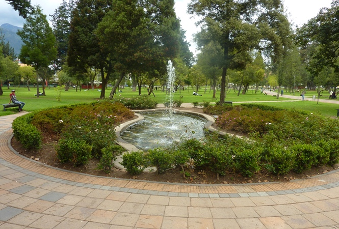 Park in Quito, Ecuador