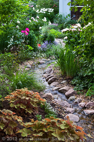 stream through garden