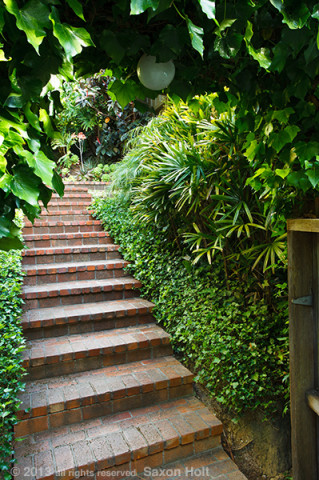 stair entry to garden