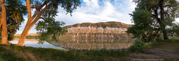 Bend in the River at White Cliffs, The Upper Missouri River Breaks National Monument